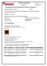 Sikkerhedsdatablad - Skalflex