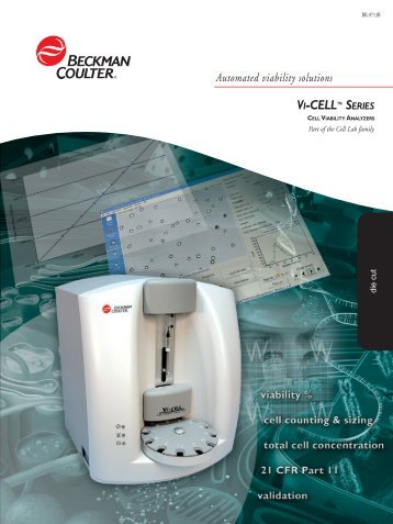 VI-CELL™ SERIES - Beckman Coulter