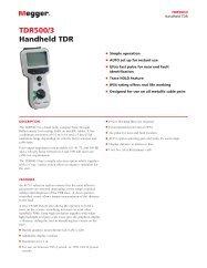 TDR500/3 Handheld TDR - Megger Networks