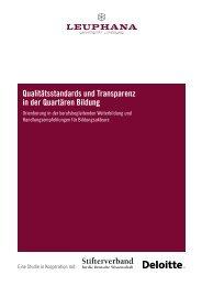 Qualitätsstandards und Transparenz in der Quartären Bildung