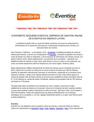 Press Release - Blog de Eventioz.com