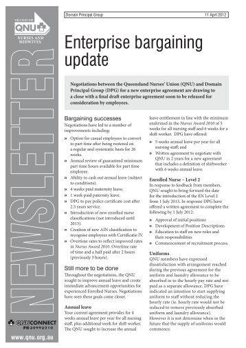 Enterprise bargaining update - Queensland Nurses Union