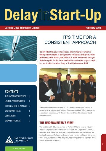 Delay in Start Up Newsletter - JLT