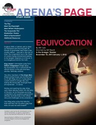 Equivocation Study Guide - Arena Stage