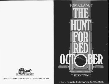 The Hunt For Red October Manual - Virtual Apple
