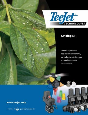 Teejet Catalog 51 - Farmco Distributing Inc