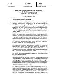Prüfungsordnung Magister - Geographisches Institut Uni Heidelberg