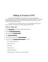 Siblings & Friends at FFP! - Fluency Friday Plus