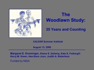 The Woodlawn Study: - UCLA Integrated Substance Abuse Programs