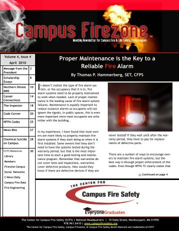 Proper Maintenance is the Key to a Reliable Fire Alarm - Center for ...