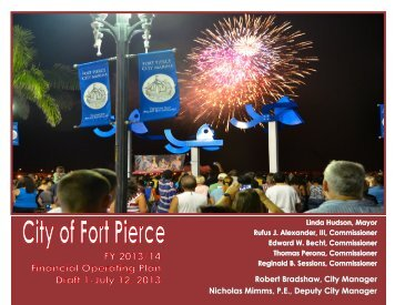 Robert Bradshaw, City Manager Nicholas ... - City of Fort Pierce
