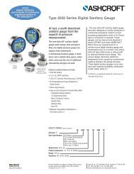 Type 2030 Series Digital Sanitary Gauge - Temp-Press Inc