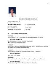 Curriculum dona Elizabeth Fonseca Corrales