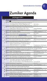 Zumiker Agenda Juli/August 2011 - Zumiker Bote
