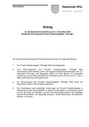 Antrag Privater Gestaltungsplan Gh-366ngg - Gemeinde Wila