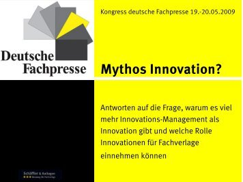 "Vortrag ""Mythos Innovation"""