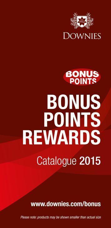 Downies - Bonus Points Rewards Catalogue