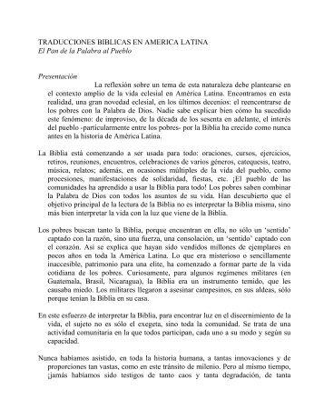 TRADUCCIONES BIBLICAS EN AMERICA LATINA El Pan de la ...