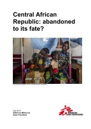 Central African Republic: Abandoned to its fate? - Médecins Sans ...