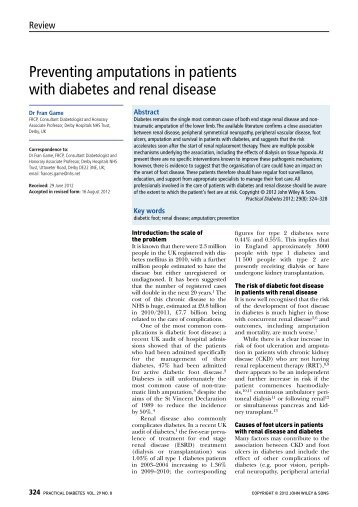 Preventing amputations in patients with ... - Practical Diabetes