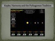 Kepler, Harmony and the Pythagorean Tradition