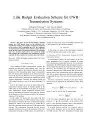 Link Budget Evaluation Scheme for UWB Transmission Systems