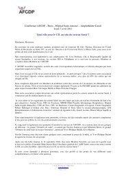 Conférence AFCDP – Paris – Hôpital Saint-Antoine ... - L'Afcdp