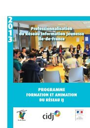 programme 2013 à télécharger (pdf) - Cidj