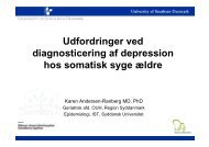 Udfordringer ved Udfordringer ved diagnosticering af depression ...