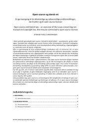 Open source og dansk ret - Juridisk Institut