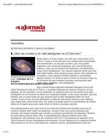 Imagen de la Vía Láctea Foto: TOMADA DE LA PAGINA HTTP ...