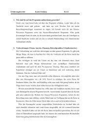Erfahrungsbericht Karin Stoklasa 8.4.11 1. Wie sind Sie auf das ...