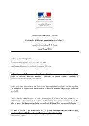 Intervention de Marisol Touraine à l'Assemblée mondiale ... - Capgeris