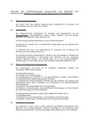 statuten der österreichischen gesellschaft für geriatrie und ...