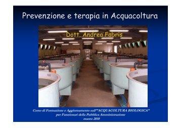 Prevenzione e terapia in Acquacoltura - Sistema d'informazione ...