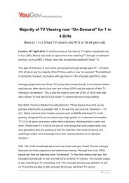 """Majority Of TV Viewing Now """"On Demand"""" For 1 In 4 Brits - YouGov"""