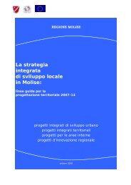 La strategia integrata di sviluppo locale in Molise: - unione dei ...