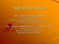 High School Athletics Power Point - Barnegat Township School District