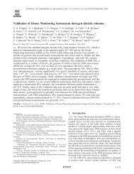 Validation of Ozone Monitoring Instrument nitrogen dioxide ... - DOAS