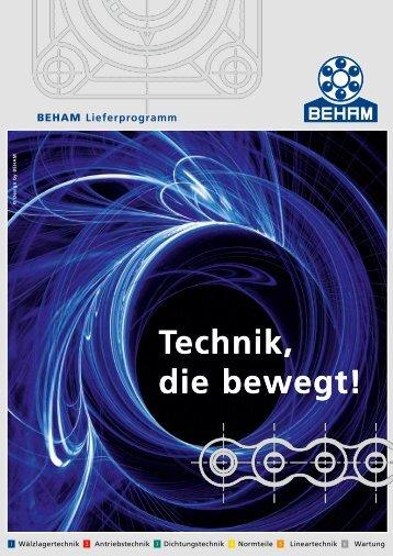 Beham Lieferprogramm - Kugellager Beham Handels Ges.m.b.H.