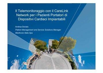 Il Telemonitoraggio con il CareLink Network per i Pazienti ...