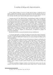 Il contributo del dialogo nelle religioni abramitiche - Pontificia ...