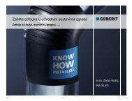 Zaštita od buke u odvodnim sustavima zgrada  - Geberit