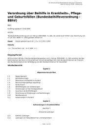 Verordnung über Beihilfe in Krankheits-, Pflege- und Geburtsfällen ...