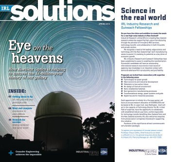IRL Solutions - Spring 2010 - Industrial Research Limited