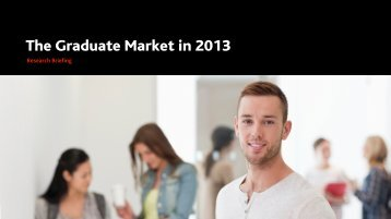 The Graduate Market in 2013