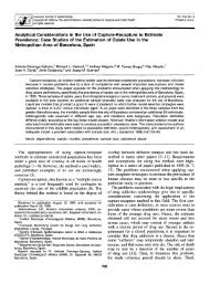 Analytical Considerations in the Use of Capture ... - Sida Studi