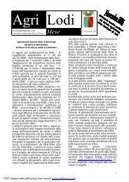 Per scaricare il file PDF cliccate qui - Provincia di Lodi