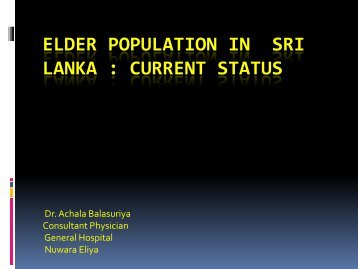 elder population in sri lanka