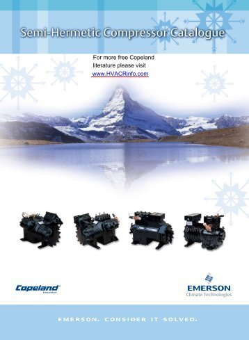 Semi-Hermetic Compressor Catalogue - HVAC and Refrigeration ...